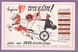 Buvard  - Jouez A L Autoroute - 1er Pour Le Code De La Route  - Le Lot De 2 - - Vloeipapier