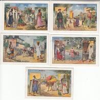 LOT De 5 CHROMOS - Images Publicité A SAINT-EUSTACHE - ALGERIE MAROC INDE NIGER INDOCHINE - Other