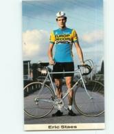 Eric STAES , Carte Format 6.5 X 10.5 Cm . Cyclisme. Europ Decor Dries 1983 - Cyclisme