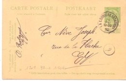 Belgique Carte Postale N° 42 Oblitérée La Louvière 1910 - Entiers Postaux