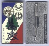 Insigne De La Compagnie Du Matériel De La 420e Division De Soutien Logistique Au Liban - Hueste