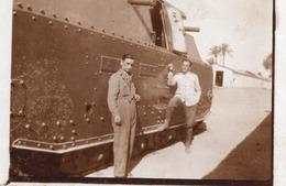 """FO-00332- FOTO AUTENTICA- MILITARI ITALIANI CON IL CARRO D'ASSALTO NEL FORTE DI """"AMIDI"""" ?  LIBIA - Guerre, Militaire"""