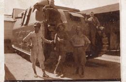 """FO-00333- FOTO AUTENTICA- MILITARI ITALIANI CON IL CARRO D'ASSALTO NEL FORTE DI """"AMIDI"""" ?  LIBIA - Guerre, Militaire"""