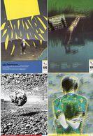 4 CP - La Solidarité A Un Téléphone - Chomage - Sécheresse - Les Catastrophes - Marc Béziat - 1985 (119571) - Philosophie & Pensées