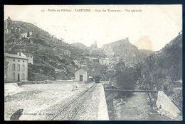 Cpa Du 11 Vallée De L' Orbiel -- Lastours - Gare Des Tramways -- Vue Générale  Est AVR20-90 - Frankreich