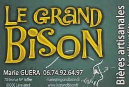 Le Grand Bison - Bières Artisanales - Bouteilles Et Fûts - 09300 Lavelanet - France - Visiting Cards