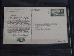 Ile Ascension - Carte Publicitaire Ionyl -  Dans Le Sillage De Bougainville - 1955 - Voilier - Ascension (Ile De L')