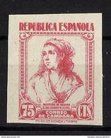 ESPAÑA (*) NE-53s Nuevo Sin Goma. Cat.60 € - 1931-50 Neufs