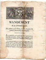 MANDEMENT De M. L' EVEQUE D' AGEN, Pour Un Te Deum ... Victoires D' ENZERSDORF Et WAGRAM, Lettre De L'Empereur NAPOLEON. - Historical Documents