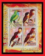 100.PALESTINIAN NATIONAL AUTHORITY STAMP M/S BIRDS OF AFRICA (BROAD BILLS) . MNH - Palestina