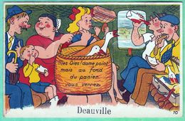 DEAUVILLE - CARTE A SYSTEME CONTENANT 10 VUES - MES OIES ! MAIS AU FOND DU PANIER VOUS VERREZ..- 2 SCANS - Deauville