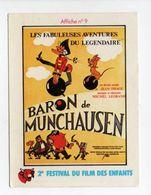 - CHROMO LA VACHE QUI RIT - Série 2e FESTIVAL DU FILM DES ENFANTS - Affiche N° 9 : BARON De MUNCHAUSEN - - Trade Cards
