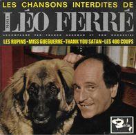 """EP 45 RPM (7"""")  Léo Ferré  """"  Les Chansons Interdites De Léo Ferré  """" - Vinyles"""