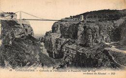 Algeria Constantine Corniche De Philippeville Et Passerelle Sidi M' Cid Postcard - Ansichtskarten