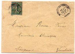Enveloppe  Adressée De MONTALIEU-VERCIEU (Isère) A SERIGNAN (Vse)   (119579) - Marcophilie (Lettres)