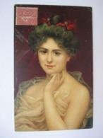 JEUNE  FEMME    REVEUSE      ....    TTB - 1900-1949