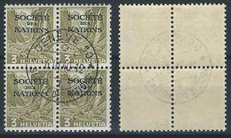 TT-/-308--   SERVICE - En Bloc De 4, N° 96a, OBL., COTE 2.50 €, TTB, VOIR LES SCANS - Dienstzegels