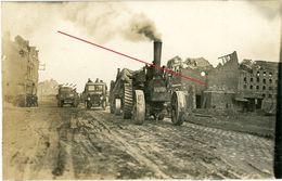 La Chapelle Armentières (Nordfrankreich) Real Scene.englischer Traktor Schlepper -guerre 14/18-WWI Carte Photo Allemande - 1914-18