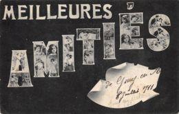 Femme (Fantaisie) - Meilleurs Amitiés - Multivues - Fond Noir - Mujeres