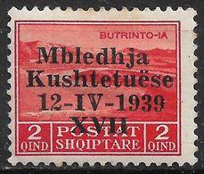1939 ALBANIA MLH STAMP (Michel # 285) - Albanie