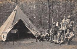 SCOUTISME - CHAMARANDE - Campement De La  Patrouille Des Lévriers - Pierre Joubert (texte Joint) Carte Photo - Scoutismo