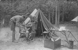 SCOUTISME - CHAMARANDE - Campement De La  Patrouille Des Lévriers - Poste D'infirmerie,soins.. Carte Photo 1927 - Scoutismo