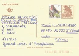 BELGIUM. POSTAL STATIONARY WITH ADDITIONAL POSTAGE. BIRD. - Stamped Stationery