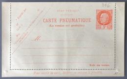 France Carte Pneumatique N°521-CLPP1 - Neuve - (W1686) - Pneumatic Post