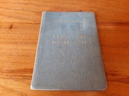 1950 France Diplomatic Passport Passeport Diplomatique V: Jordan Singapore UK Egypt AMG Lebanon Vietnam Ceylon Indochina - Historical Documents