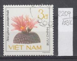 103K2209 / 1985 - Michel Nr. 1550 Used ( O ) Cactus Kakteengewachse Pelecyphora Pseudopectinata, Vietnam Viet Nam - Viêt-Nam