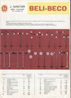 Catalogue BELI-BECO 1977 FR J.NANTIER Lampe De Chemins De Fer Et De Route - Books And Magazines
