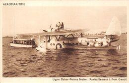 HYDRAVION- LIGNE DAKAR-POINTE NOIRE, RAVITAILLEMENT A PORT GENTIL- AEROMARITIME - Aviation