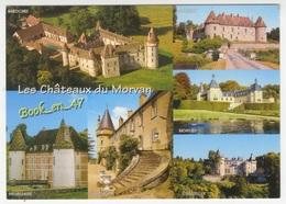 {59694} Les Châteaux Du Morvan , Multivues ; Bazoches Menessaire Montjeu Chastellux Marcilly Villemolin - Castillos