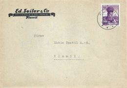 "Motiv Brief  ""Seiler, Holzwaren, Ski Fabrik, Flawil""           1940 - Storia Postale"
