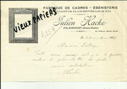 70 - Haute Saone - Polaincourt - Facture Julien Hacke - Fabrique De Cadres - ébénisterie  - 1927 - Réf 43 - - France