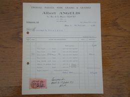 45 OLIVET - Facture Albert ANGELIS, Engrais Pailles Foin Grains & Graines, 20 Juillet 1939 - France