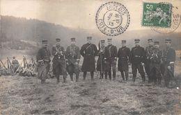 88 - REMIREMONT - Carte Photo Chasseurs à Pied,Officiers Et Sous-Officiers. - Remiremont