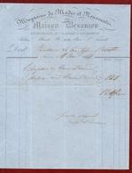 FLORENCE - MAGASINS DE MODES MAISON BESANCON - FATTURA DEL 11/5/1864 - Italie