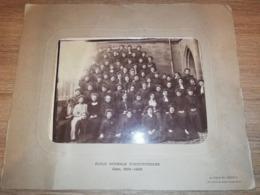 PHOTO CLASSE ECOLE NORMALE INSTITUTRICE CAEN 1905 1906 JONGH FREON 29 X 35 CM - Identifizierten Personen