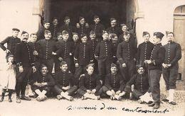 88 - RAMBERVILLERS - Carte Photo Cantonnement Bataillon Chasseurs - Rambervillers