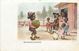 223127-Black Americana, Watermelon Days, Man Bringing A Family A Watermelon, E.C. Kropp No 380 - Black Americana