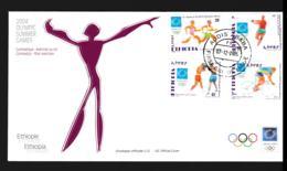 Ethiopia FDC 2004 Athens Olympic Games (NB**LAR9-141) - Ete 2004: Athènes