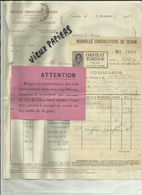 08 - Ardennes - Sedan - Facture Chocolat Turenne - 2 Documents   - 1924 - Réf 43 - - France
