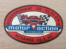 LUXEMBOURG *  Luxemburg - Plaquette Motor Action Championnat De Slalom Rodange 1969 - Roude Léif - Postkaarten