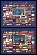 Kazakhstan 2013 Mih. 797/98 (Bl.45/46) Establishment Diplomatic Relations. Flags MNH ** - Kazakhstan