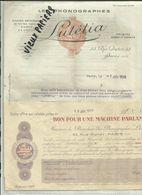 75 - Paris - 53 Rue Dutot -  Facture Lutétia - Les Ponographes - Musique   - 1929 - Réf 43 - - France