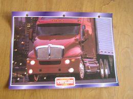 KENWORTH  T 2000 75 Inch Aérodyne 1998  USA Trucks Trailers Transport Fiche Descriptive Camion Truck Camions - Autres