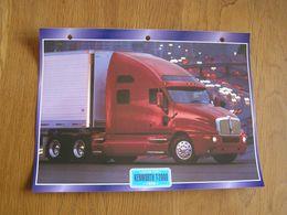 KENWORTH  T 2000 1998  USA Trucks Trailers Transport Fiche Descriptive Camion Truck Camions - Autres