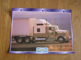 KENWORTH  W 900 L 86 Inch Studio Aérocab 1997  USA Trucks Trailers Transport Fiche Descriptive Camion Truck Camions - Autres