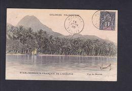 Colonies Francaises Polynesie Francaise Etablissements Francais De L' Oceanie Tahiti Vue Du Moorea ( Colorisée 42477) - Tahiti